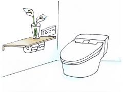 TOTO ピュアレストQR(手洗い・普通便座付)